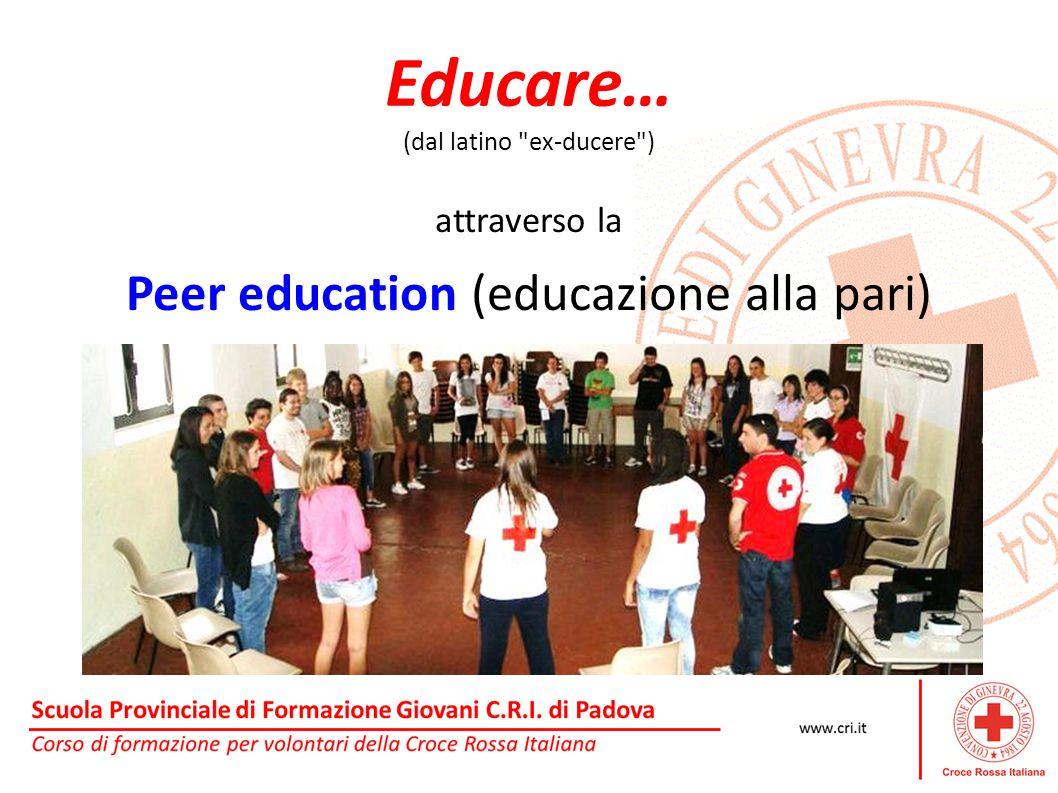 Educare… (dal latino ex-ducere ) attraverso la Peer education (educazione alla pari)