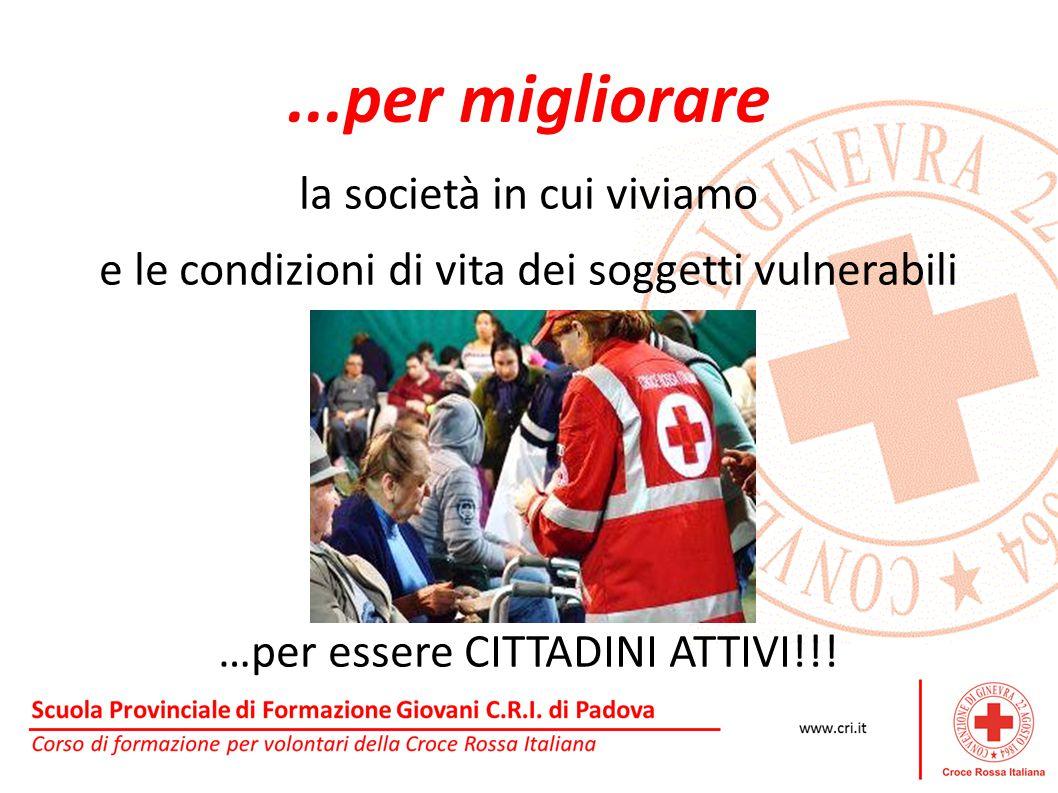 ...per migliorare la società in cui viviamo e le condizioni di vita dei soggetti vulnerabili …per essere CITTADINI ATTIVI!!!