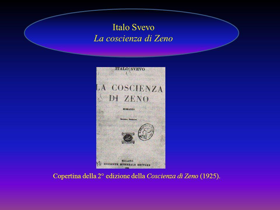 Copertina della 2° edizione della Coscienza di Zeno (1925). Italo Svevo La coscienza di Zeno