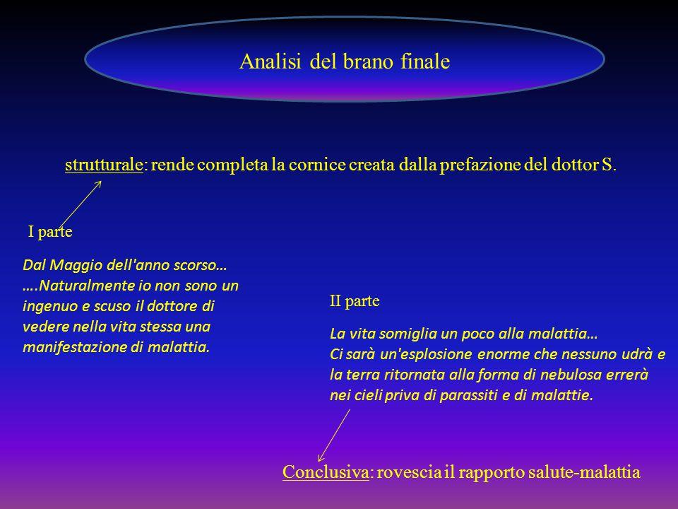 Analisi del brano finale strutturale: rende completa la cornice creata dalla prefazione del dottor S.