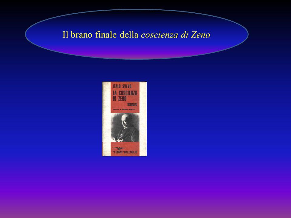 In data 24 maggio 1916 Zeno, sollecitato dal medico che gli chiede il resto delle sue memorie, afferma di avere le idee ben chiare.