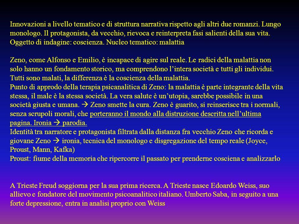 Alfonso NittiEmilio BrentaniZeno Cosini Rapporto con il proprio ruolo sociale Rapporto con il padre Rapporto con le donne Caratteristiche dell'Inettitudine Esito dell'esistenza