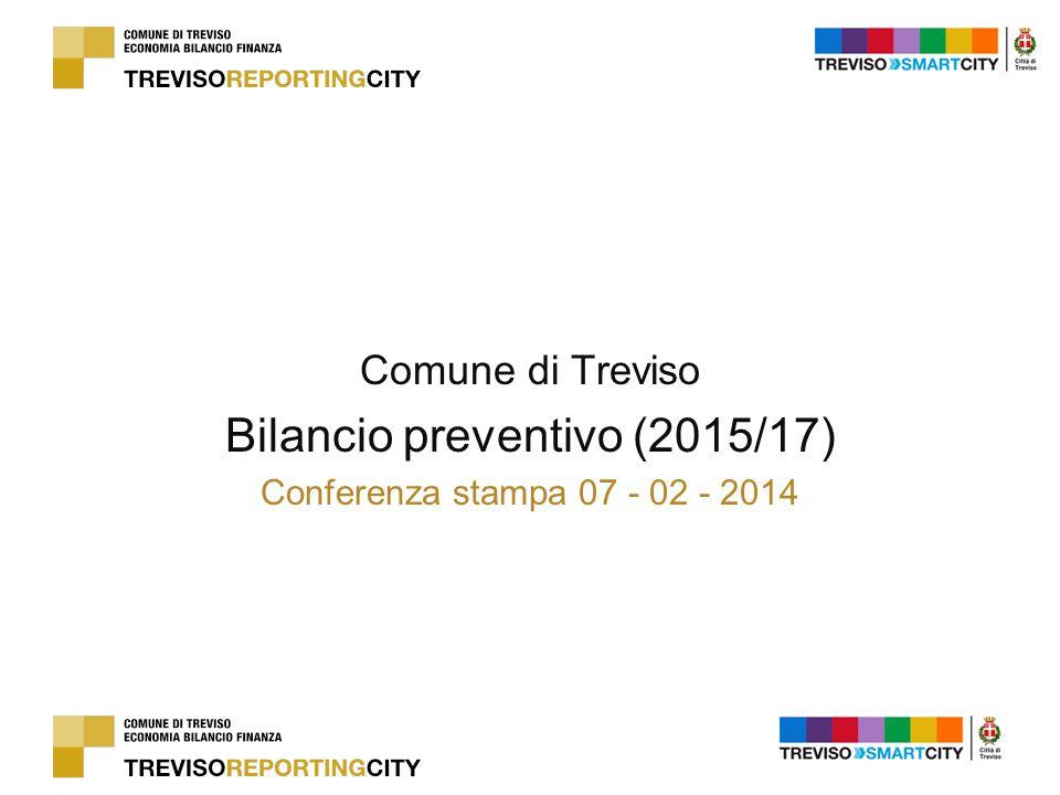 Comune di Treviso Bilancio preventivo (2015/17) Conferenza stampa 07 - 02 - 2014