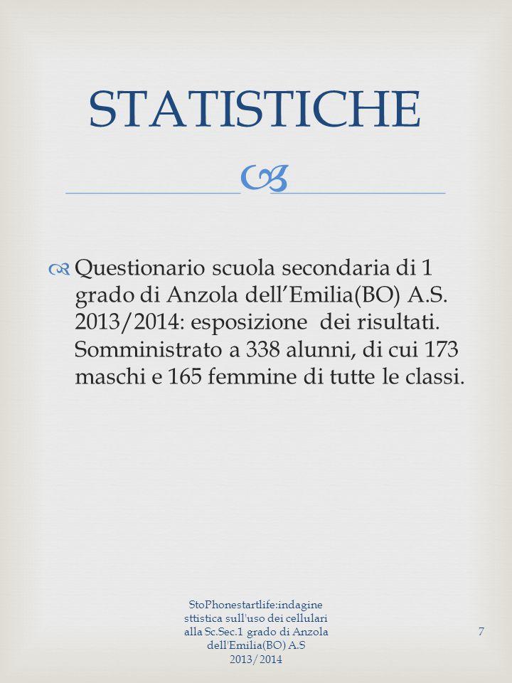   Questionario scuola secondaria di 1 grado di Anzola dell'Emilia(BO) A.S.