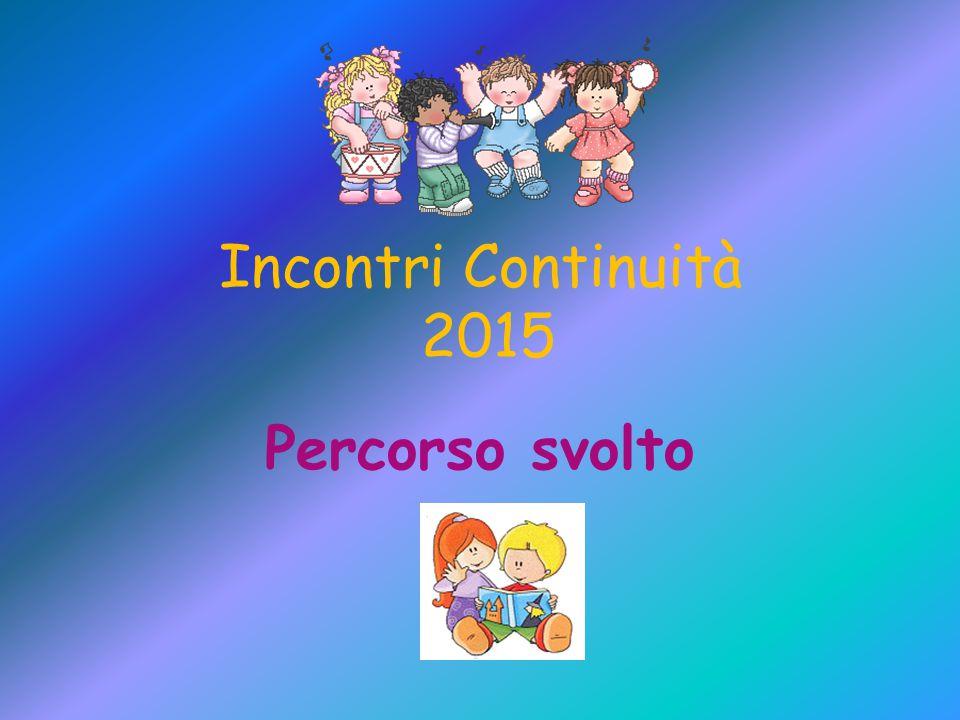 Incontri Continuità 2015 Percorso svolto