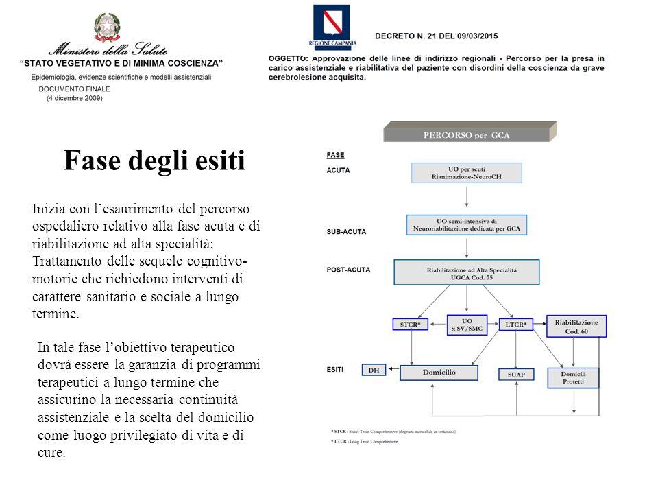 Inizia con l'esaurimento del percorso ospedaliero relativo alla fase acuta e di riabilitazione ad alta specialità: Trattamento delle sequele cognitivo