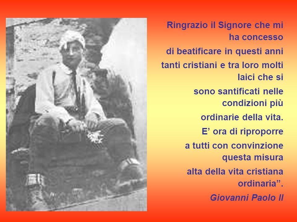 Beatificato nel 1990 da papa Giovanni Paolo II Frassati è icona di quel volontariato della carità che si inserisce nella più viva tradizione dei santi sociali piemontesi (Don Bosco).
