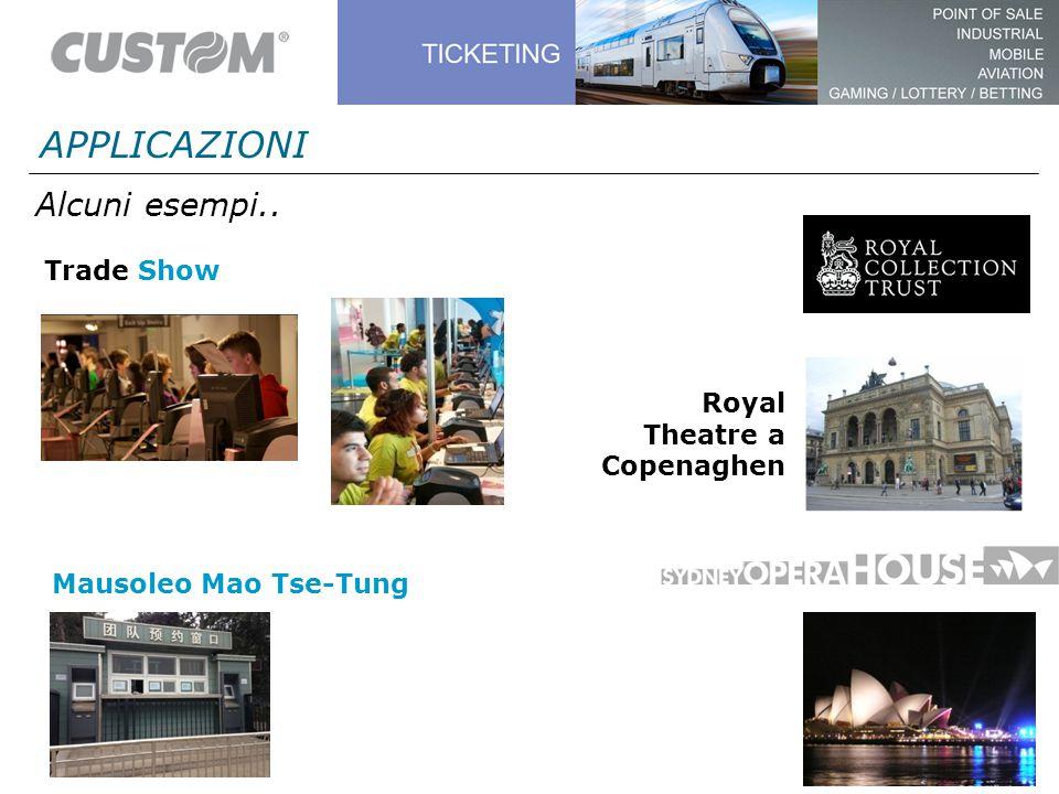 Alcuni esempi.. APPLICAZIONI Trade Show Royal Theatre a Copenaghen Mausoleo Mao Tse-Tung