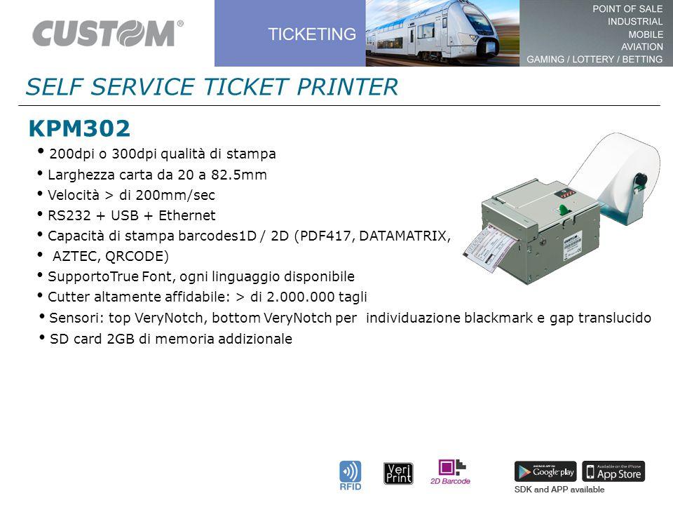 TECNOLOGIA VERIPRINT® Testina di stampa con scanner integrato.