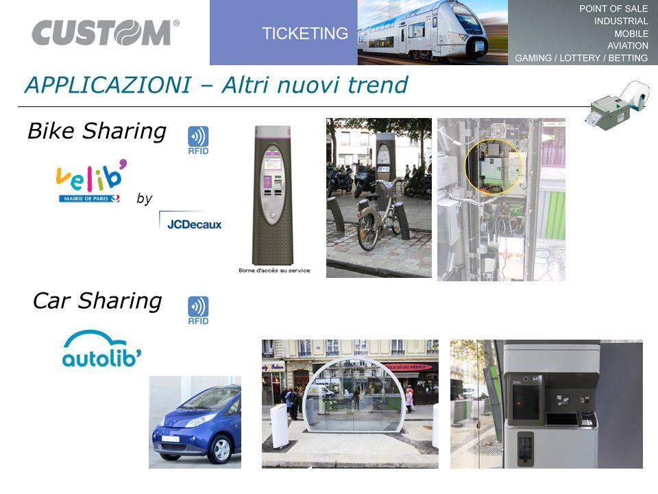 APPLICAZIONI – Altri nuovi trend by Bike Sharing Car Sharing