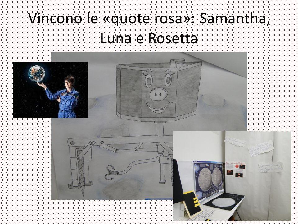 Vincono le «quote rosa»: Samantha, Luna e Rosetta