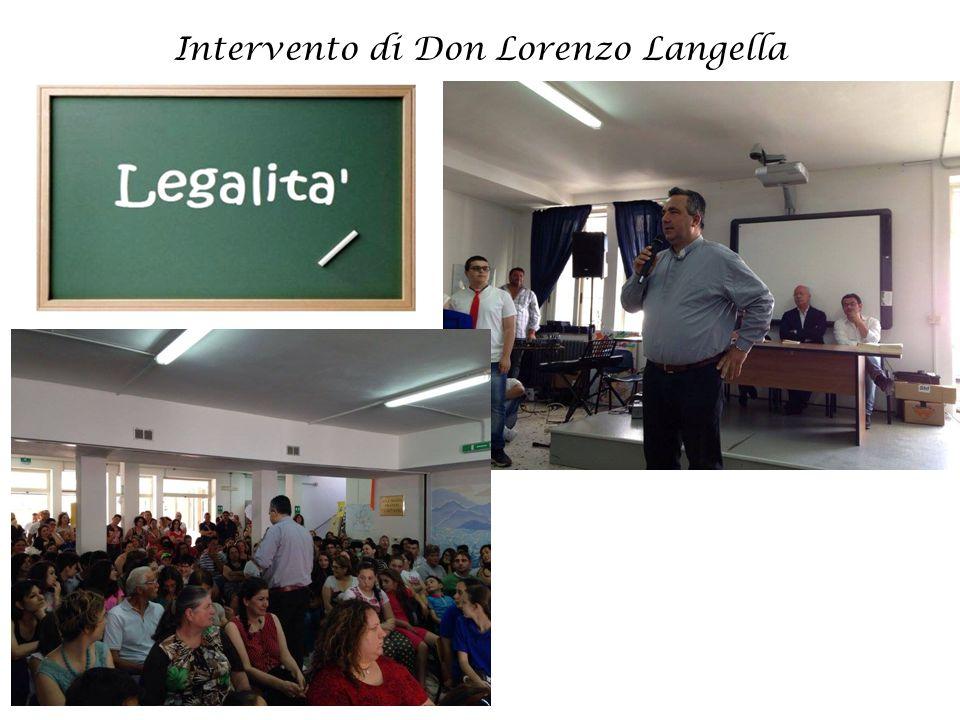 Intervento di Don Lorenzo Langella