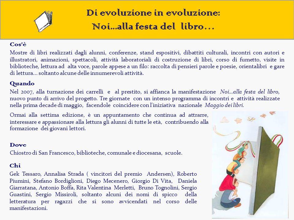 Di evoluzione in evoluzione: Noi...alla festa del libro… Ormai alla settima edizione, è un appuntamento che continua ad attrarre, interessare e appass