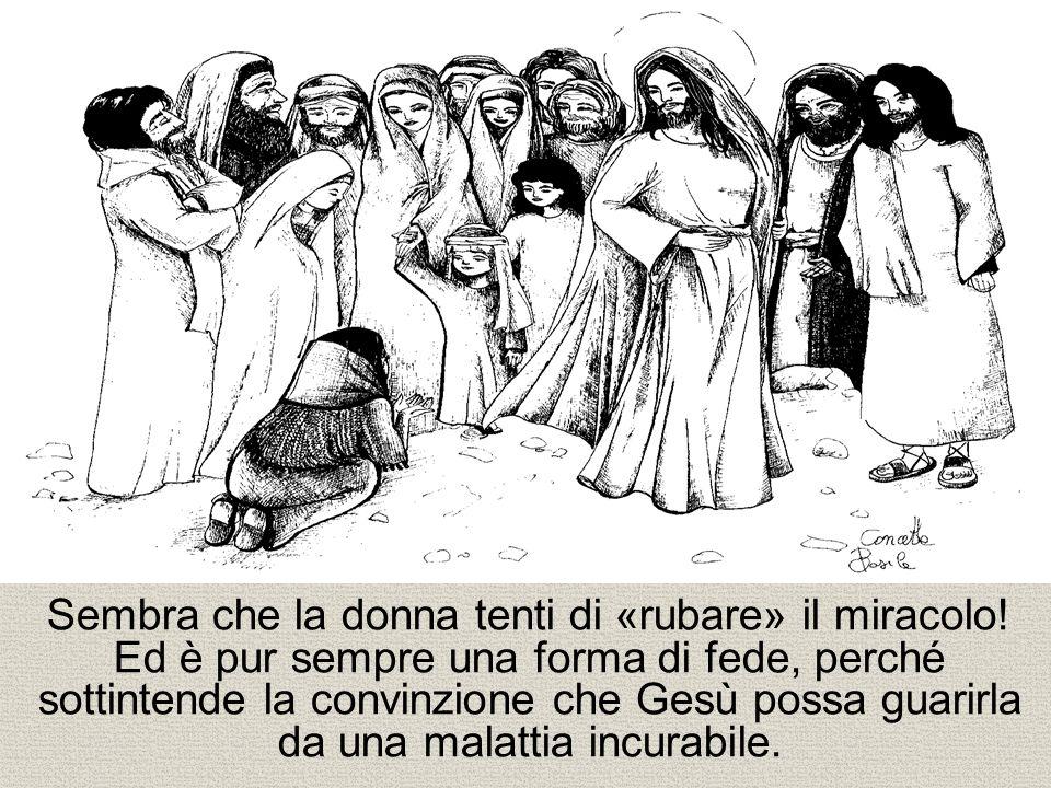 La donna guarita dice a Gesù tutta la verità.