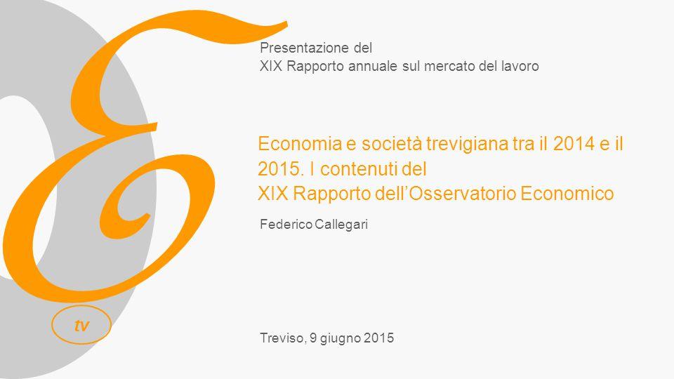 E tv Federico Callegari Treviso, 9 giugno 2015 Economia e società trevigiana tra il 2014 e il 2015.