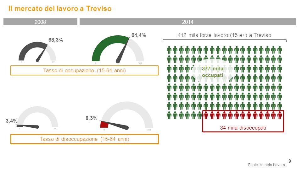 Il mercato del lavoro a Treviso 9 Fonte: Veneto Lavoro.