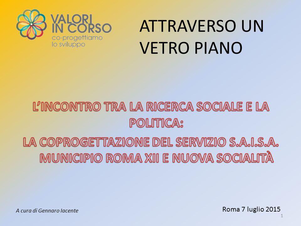 Roma 7 luglio 2015 ATTRAVERSO UN VETRO PIANO 1 A cura di Gennaro Iacente
