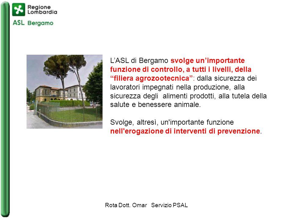 L'ASL di Bergamo svolge un'importante funzione di controllo, a tutti i livelli, della filiera agrozootecnica : dalla sicurezza dei lavoratori impegnati nella produzione, alla sicurezza degli alimenti prodotti, alla tutela della salute e benessere animale.