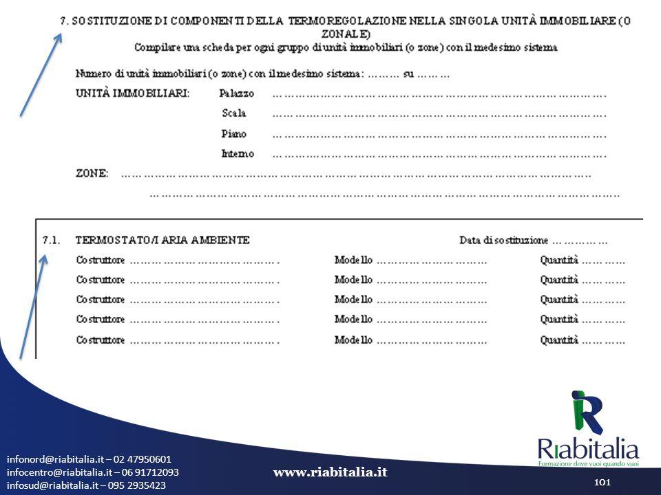infonord@riabitalia.it – 02 47950601 infocentro@riabitalia.it – 06 91712093 infosud@riabitalia.it – 095 2935423 www.riabitalia.it 101