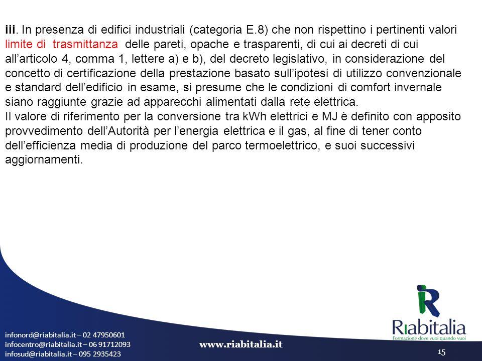 infonord@riabitalia.it – 02 47950601 infocentro@riabitalia.it – 06 91712093 infosud@riabitalia.it – 095 2935423 www.riabitalia.it 15 iii. In presenza