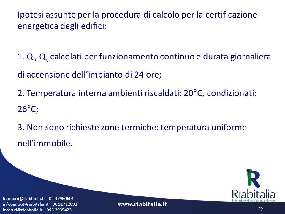 infonord@riabitalia.it – 02 47950601 infocentro@riabitalia.it – 06 91712093 infosud@riabitalia.it – 095 2935423 www.riabitalia.it 17 Ipotesi assunte p
