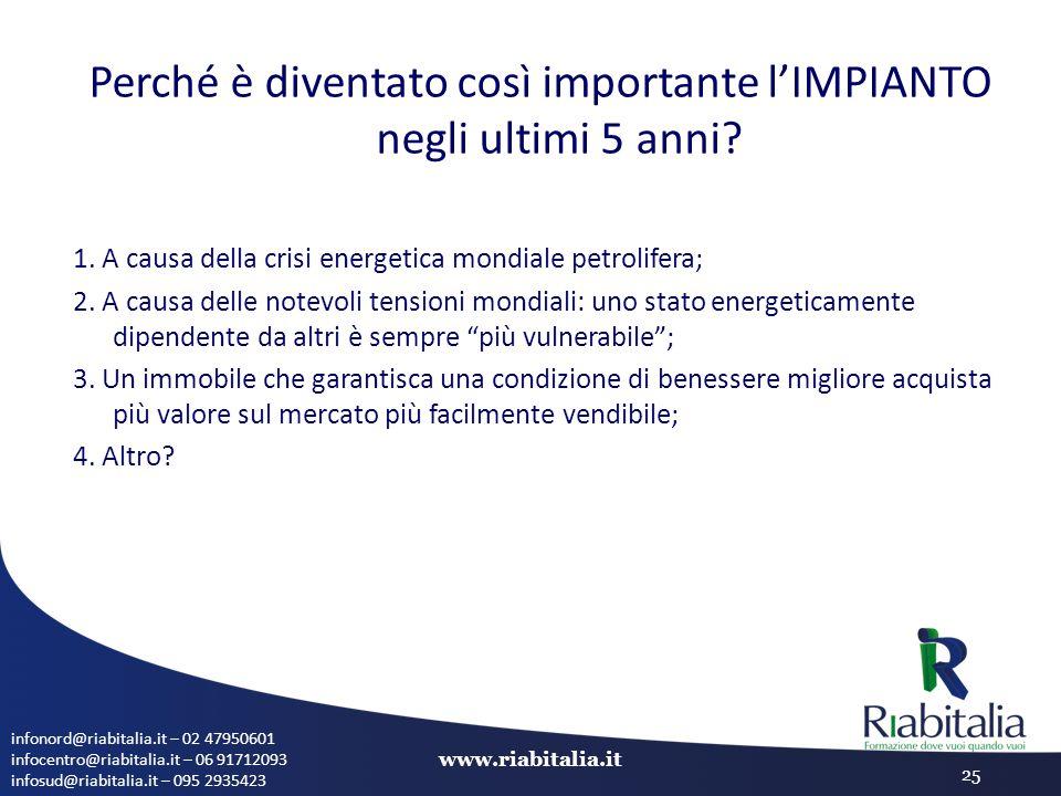 infonord@riabitalia.it – 02 47950601 infocentro@riabitalia.it – 06 91712093 infosud@riabitalia.it – 095 2935423 www.riabitalia.it 25 Perché è diventat