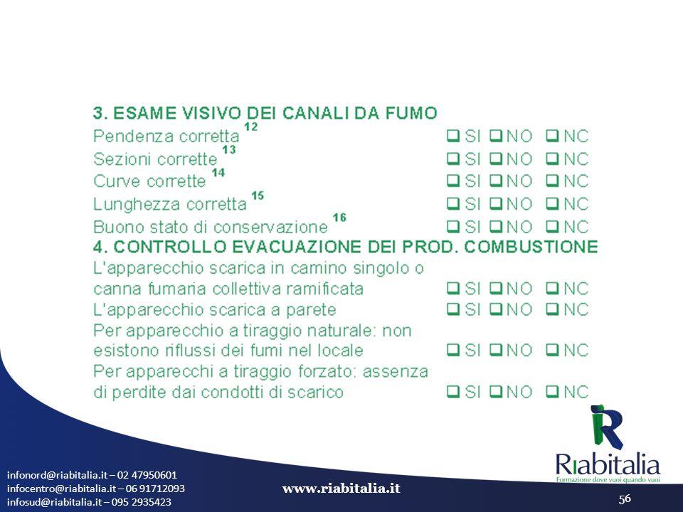 infonord@riabitalia.it – 02 47950601 infocentro@riabitalia.it – 06 91712093 infosud@riabitalia.it – 095 2935423 www.riabitalia.it 56