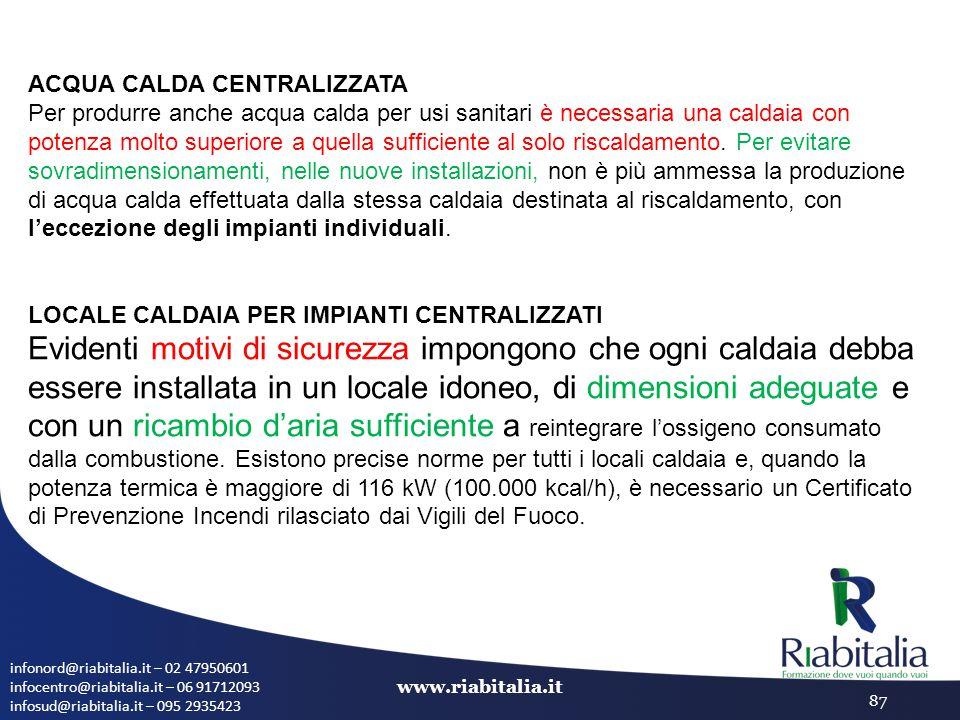 infonord@riabitalia.it – 02 47950601 infocentro@riabitalia.it – 06 91712093 infosud@riabitalia.it – 095 2935423 www.riabitalia.it 87 ACQUA CALDA CENTR