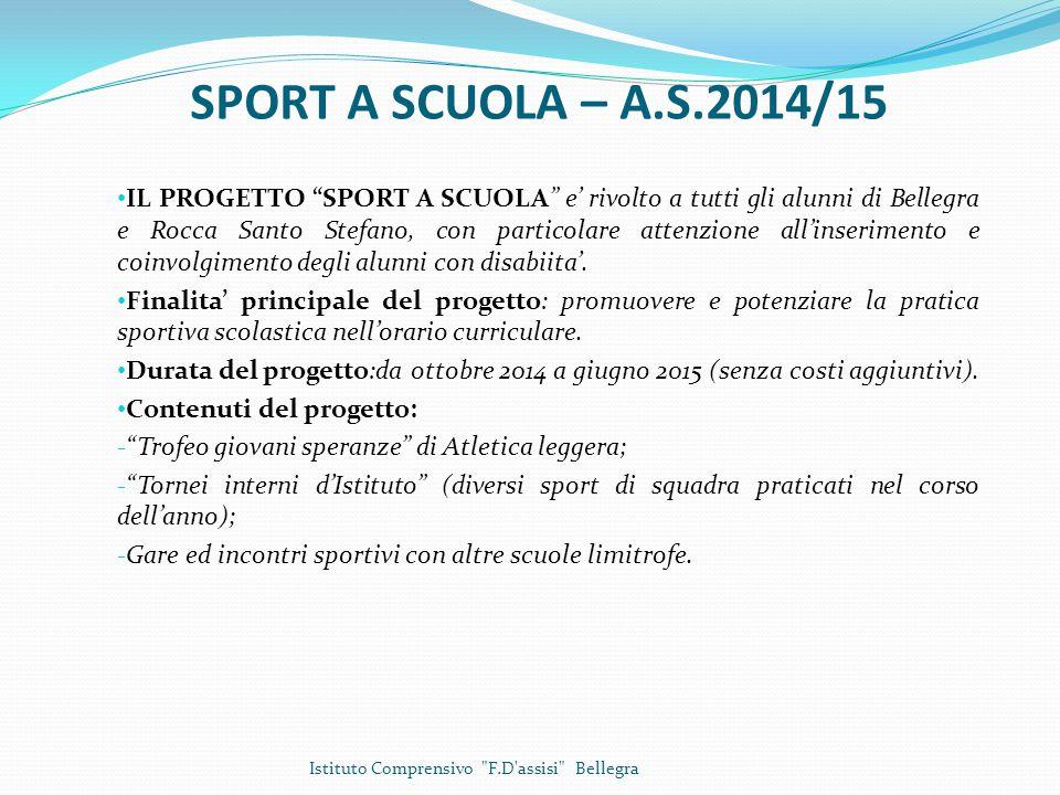 TEATRO A SCUOLA – A.S.2014/15 - Scuola Primaria e dell'Infanzia dell'I.C.