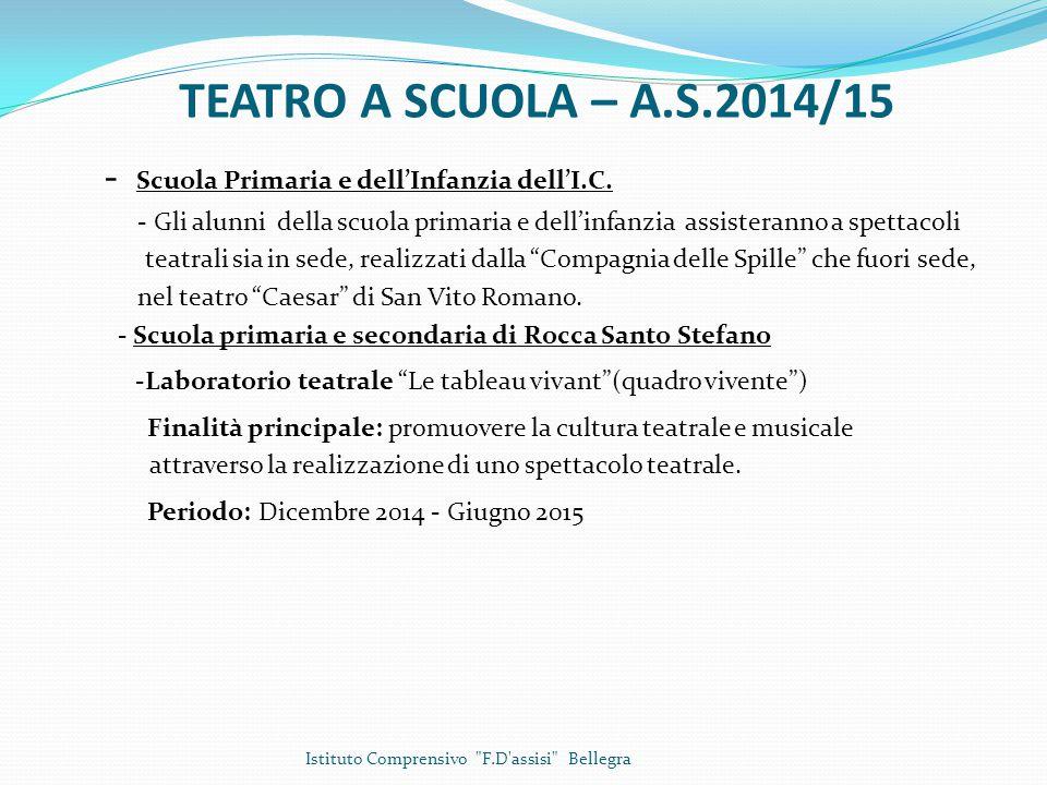 Progetti extracurriculari – A.S.2014/15 - Scuola dell'infanzia dell'I.C.