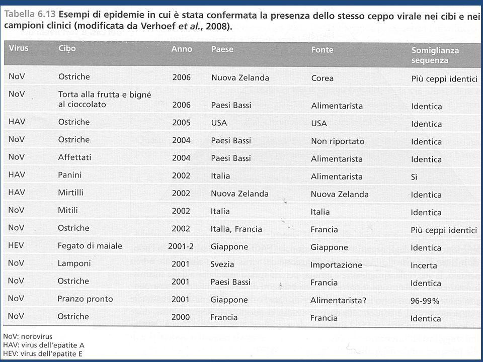 CONCENTRAZIONE DEL VIRUS IN VARI LIQUIDI BIOLOGICI Viral Hepatitis and Liver Disease 1984;9-22 J Infect Dis 1989;160:887-890 Feces Serum Saliva Urine 10 0 10 2 10 4 10 6 10 8 10 Body Fluids Infectious Doses per mL