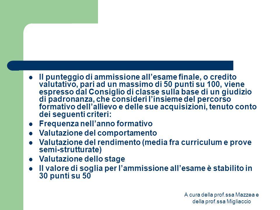 A cura della prof.ssa Mazzea e della prof.ssa Migliaccio I candidati esterni devono presentare, utilizzando uno schema allegato alla nuova normativa, la domanda di ammissione.