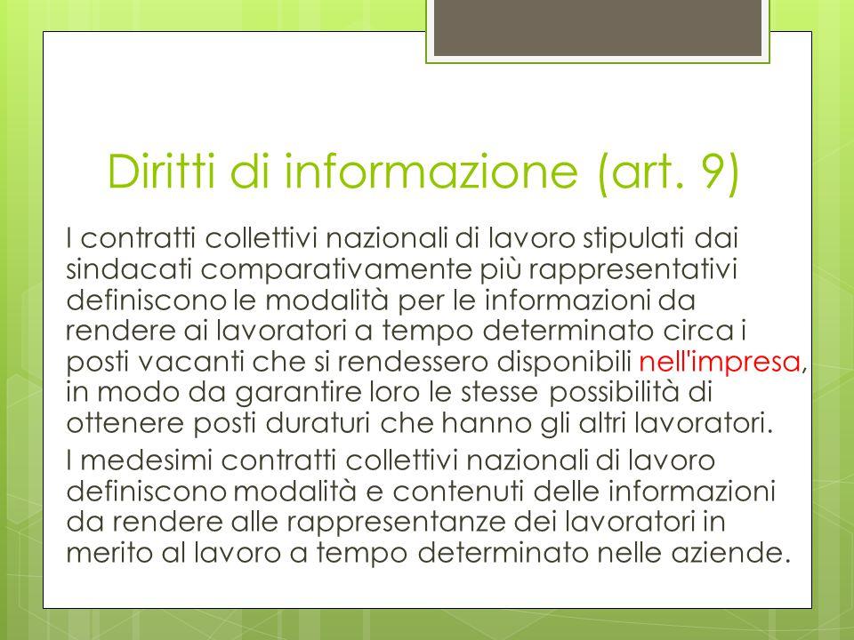 Diritti di informazione (art.