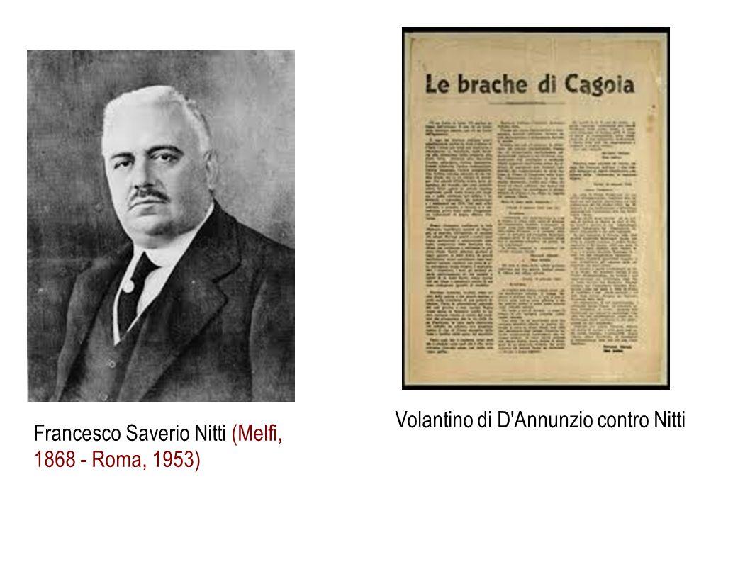 Francesco Saverio Nitti (Melfi, 1868 - Roma, 1953) Volantino di D'Annunzio contro Nitti