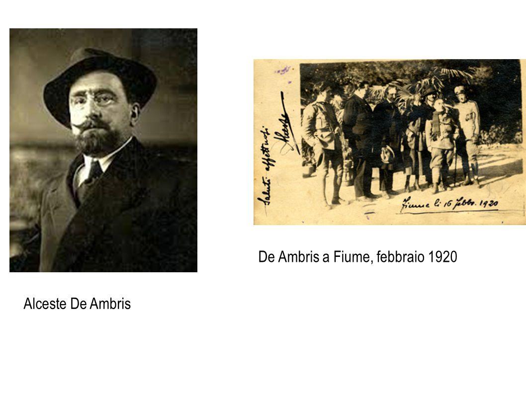 Alceste De Ambris De Ambris a Fiume, febbraio 1920