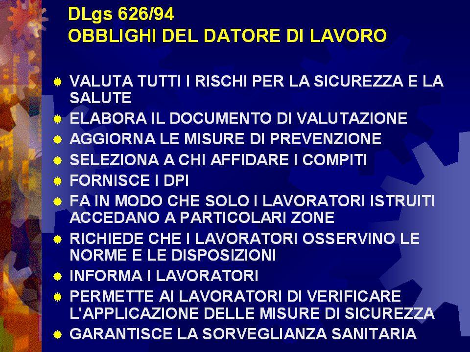 626 obblighi del datore di lavoro