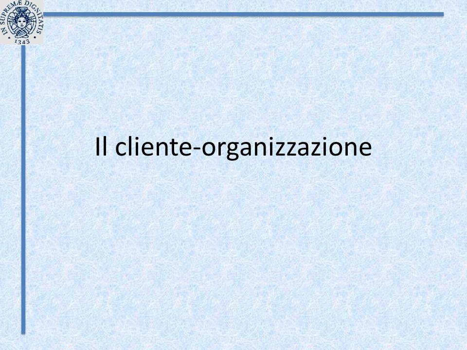 Il cliente-organizzazione