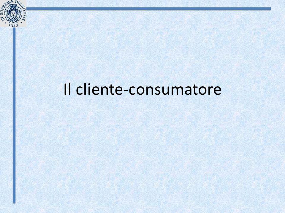 Il cliente-consumatore
