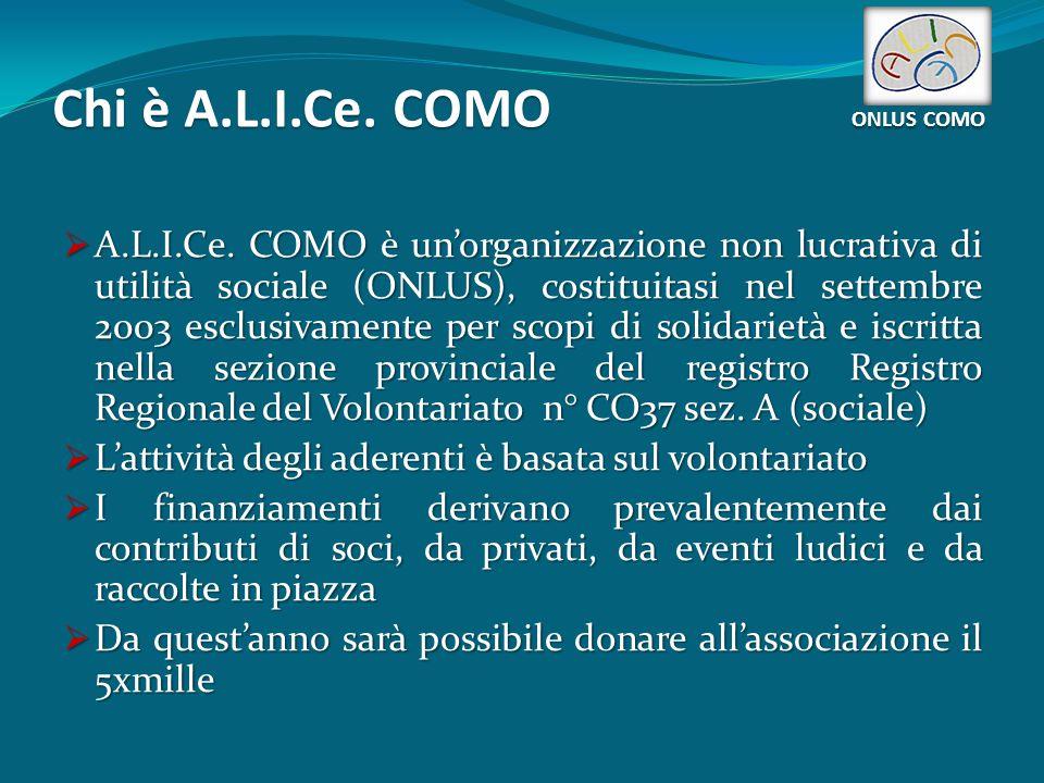 Chi è A.L.I.Ce. COMO ONLUS COMO  A.L.I.Ce.