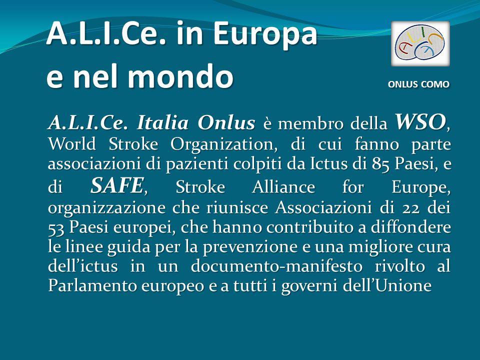A.L.I.Ce. in Europa e nel mondo ONLUS COMO A.L.I.Ce.