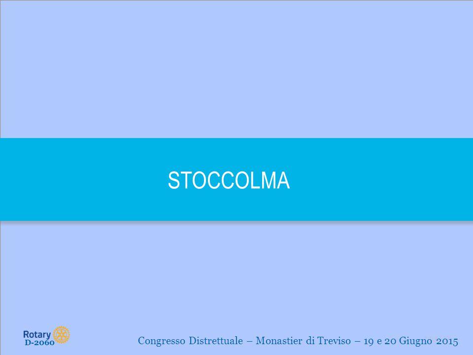 TITLE | 12 STOCCOLMA D-2060 Congresso Distrettuale – Monastier di Treviso – 19 e 20 Giugno 2015