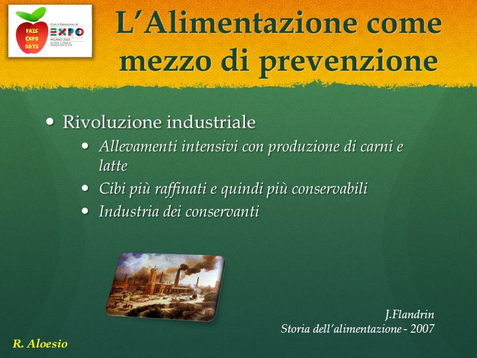 Rivoluzione industriale Rivoluzione industriale Allevamenti intensivi con produzione di carni e latte Allevamenti intensivi con produzione di carni e