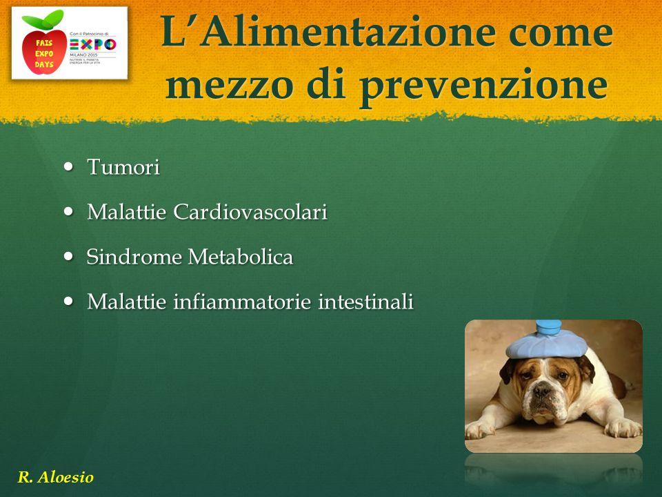Tumori Tumori Malattie Cardiovascolari Malattie Cardiovascolari Sindrome Metabolica Sindrome Metabolica Malattie infiammatorie intestinali Malattie in