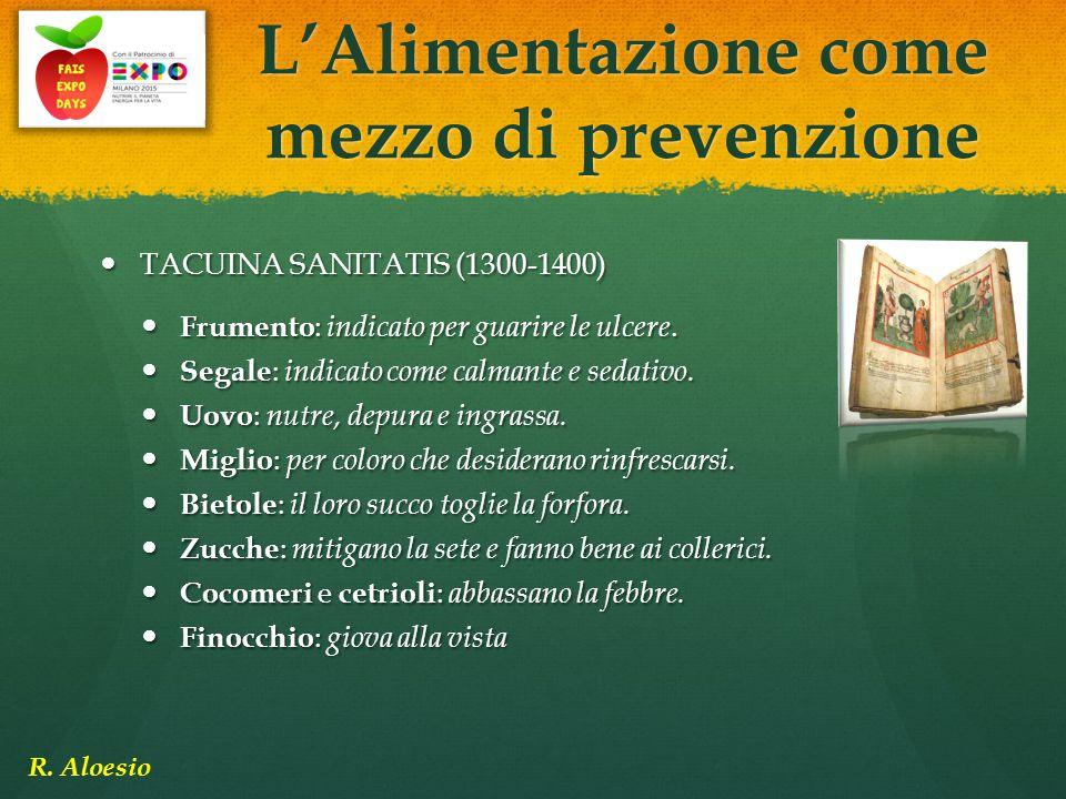 TACUINA SANITATIS (1300-1400) TACUINA SANITATIS (1300-1400) Frumento : indicato per guarire le ulcere. Frumento : indicato per guarire le ulcere. Sega