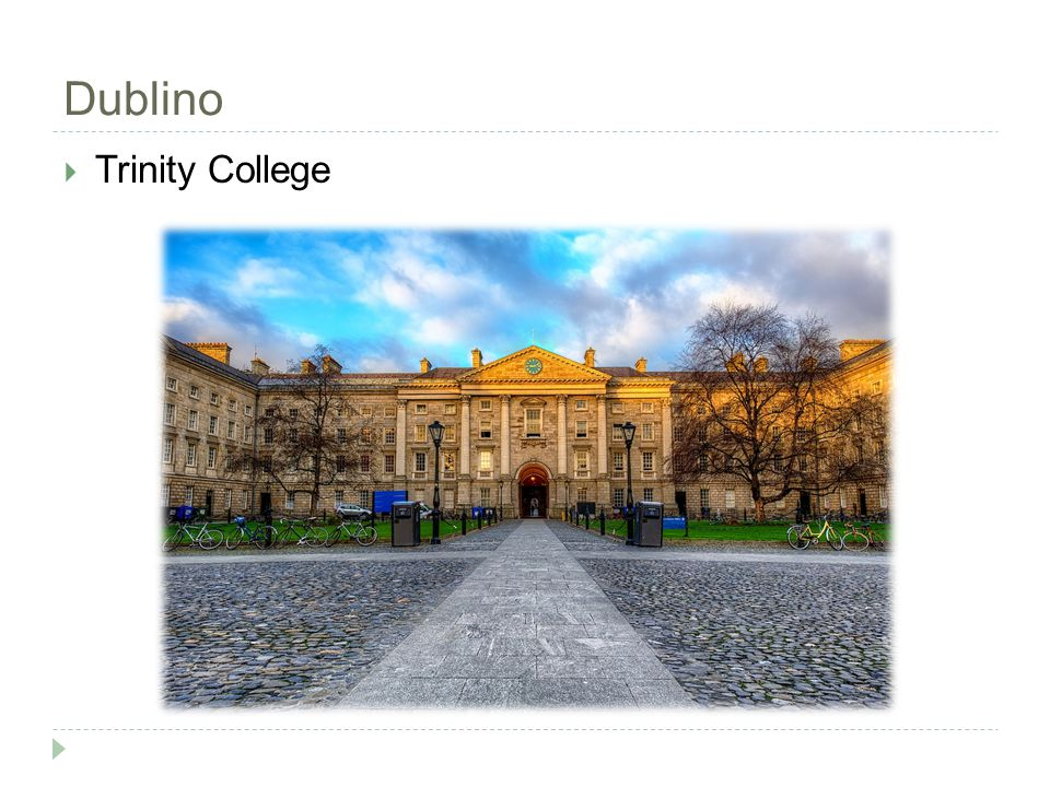 Dublino  Trinity College