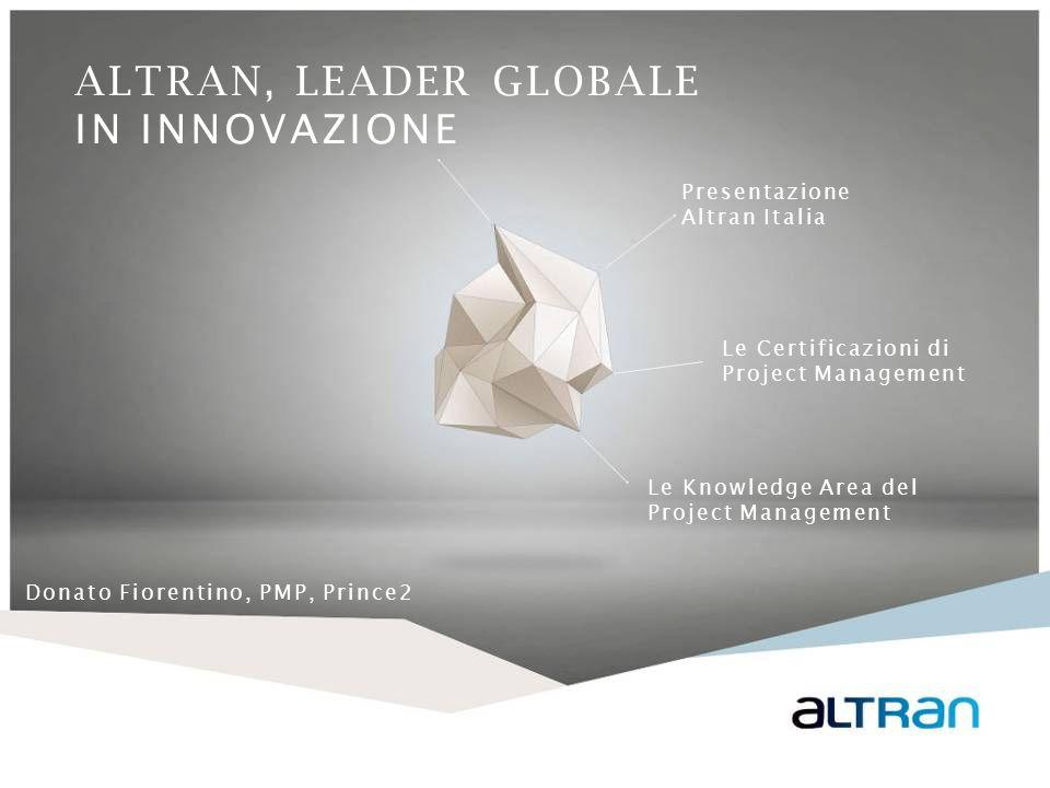 12 I dipendenti di Altran Italia svolgono un ruolo attivo nello sviluppo della propria carriera.