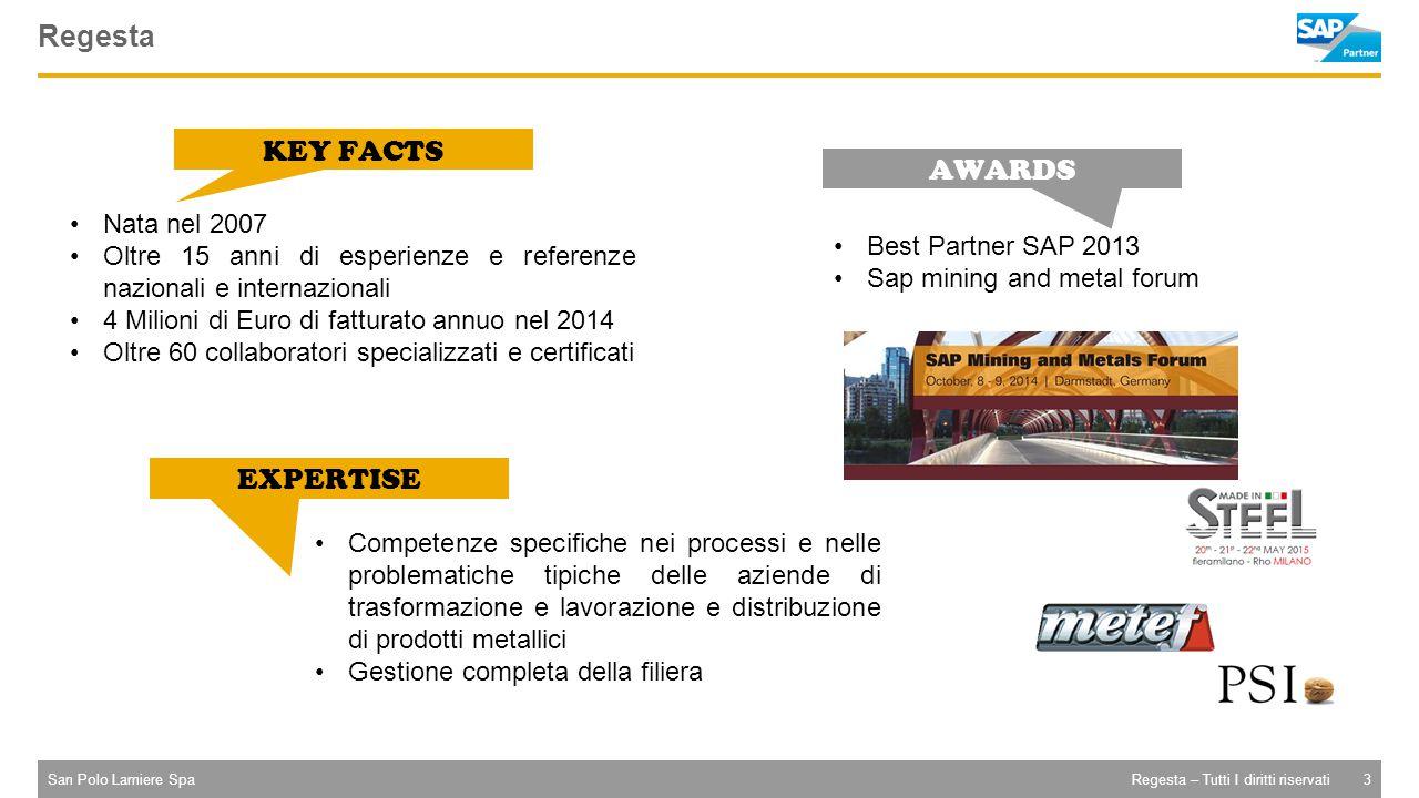 San Polo Lamiere Spa4Regesta – Tutti I diritti riservati Progetti internazionali Manufacturer (metal) Manufacturer (plastic) Manufacturer (metal) Various Manufacturer (metal)