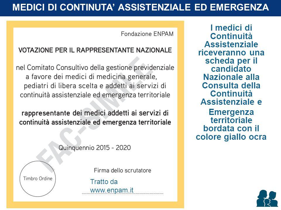 I medici di Continuità Assistenziale riceveranno una scheda per il candidato Nazionale alla Consulta della Continuità Assistenziale e Emergenza territ