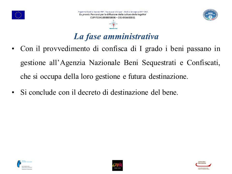 """Programma Operativo Nazionale FESR - """"Sicurezza per lo Sviluppo"""" - Obiettivo Convergenza 2007 – 2013 Eu.praxis: Percorsi per la diffusione della cultu"""