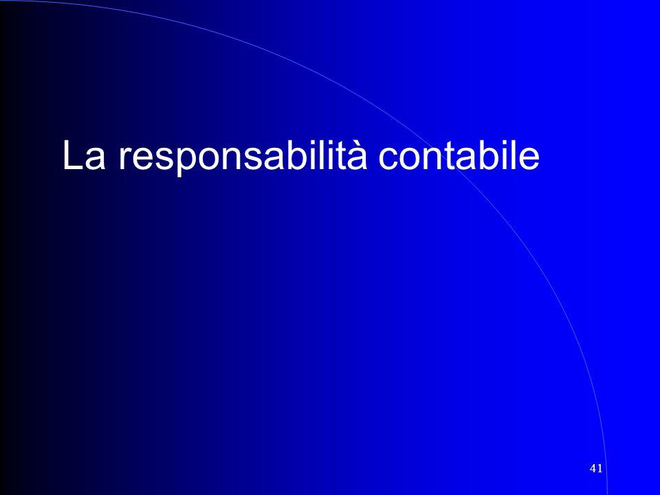41 La responsabilità contabile